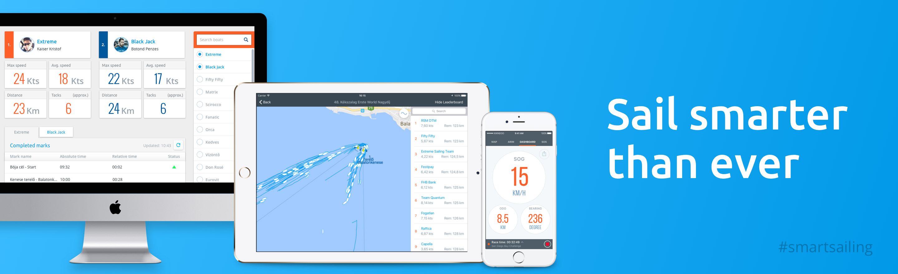 Sail smarter than ever! - Kwindoo, the regatta organizer system